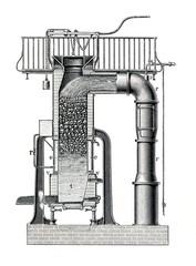 Herbertz Steam Jet Cupola Furnace (from Meyers Lexikon, 1896, 13/118/119)