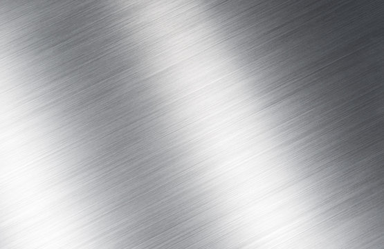 shiny silver brushed metal texture background