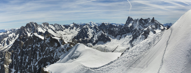 mountain peaks in the Mont Blanc area
