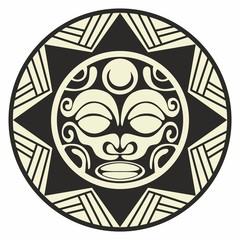 Sun tattoo decoration tribal