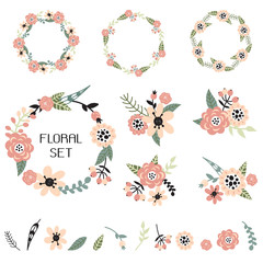 Collection with floral elements