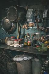 Kitchen on Tonle Sap lake, Cambodia