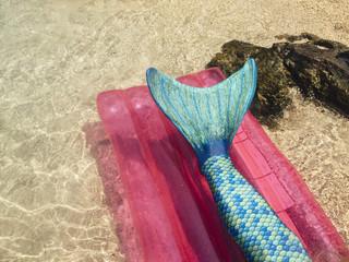 Mermaid Tail on a Sea Mattress