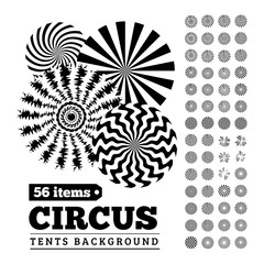 Circus tents backgrounds or circular illustrations for your design