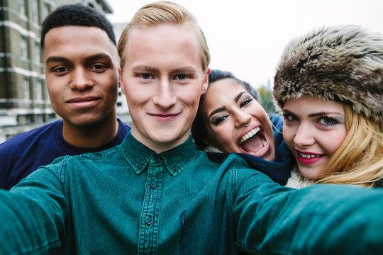 Group of friends taking a selfie