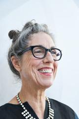 Portrait of stylish senior woman with grey hair