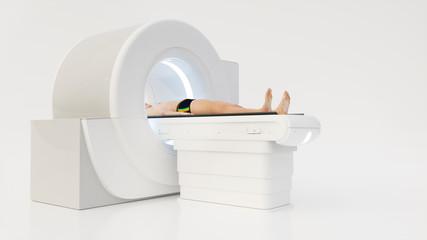 Computertomography machine with human- 3D rendering