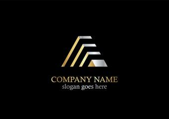 gold pyramid line company logo