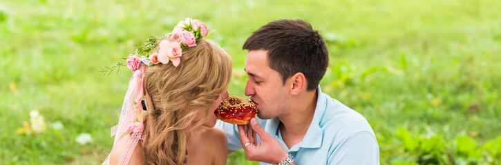 Happy Couple Having Romantic Picnic