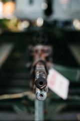 Vintage guns from army in vietnam war