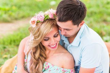 Portrait of happy Couple in love outdoors