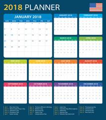 Planner 2018 - American Version