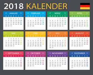 Calendar 2018 - Gerrman version