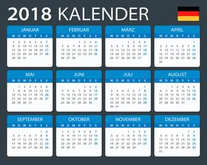 Calendar 2018 - German Version