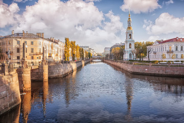 Kryukov canal, bell tower  of St. Nicholas Naval Cathedral, St. Petersburg