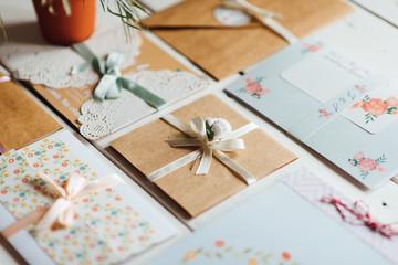 Carefully crafted wedding invitation cards