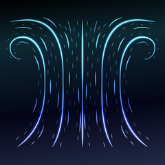 Abstract blue background with some swirls. Vector illustration