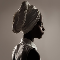 Beautiful Black Woman With a Turban