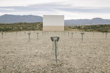 Empty Drive In Theater Rural Arizona