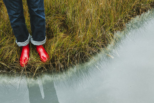 Red | Rubber | Boots