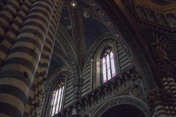 Interior of the Duomo di Siena. Metropolitan Cathedral of Santa Maria Assunta. Tuscany. Italy.