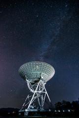Radio telescope with galaxy