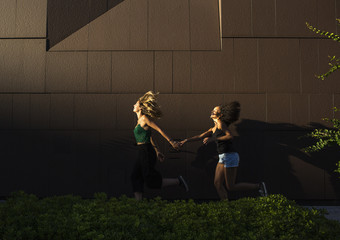 Two girls run away together