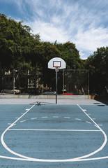 Basketball field in urban area