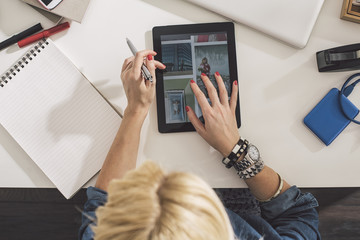 Businesswoman Using a Tablet