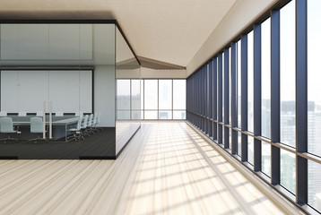 Transparent conference room wood, side