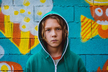 Portrait of young graffiti artist