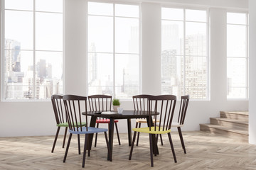 Colorful chairs dining room or office