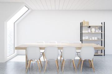 Dining room attic, white