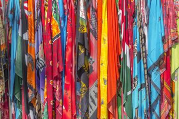 various colorful fabrics