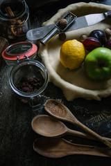 Apple and plum pie