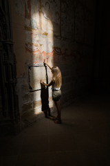 woman in the old castle