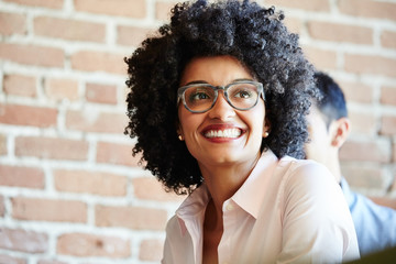 Close-up portrait of millennial businessperson at work