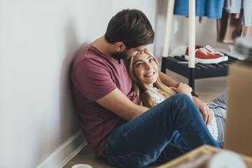 Boyfriend and Girlfriend Cuddling