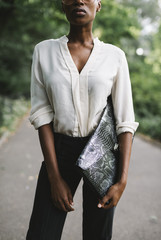 Black businesswoman in Central Park - New York City