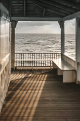 Cape Cod Porch in Winter Light