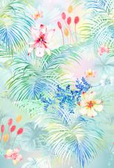 Flowers, banana leaves, decorations, women's clothing, men's wear