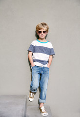 Portrait of stylish young boy