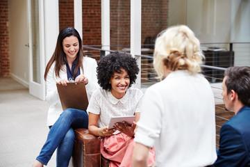 Group of millennials having an informal meeting