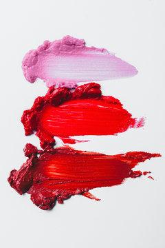 Smeared lipstick samples