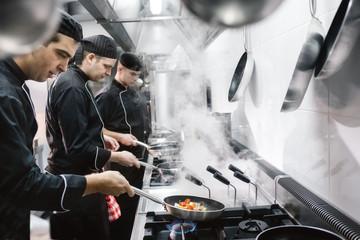 Chefs Preparing Food Together