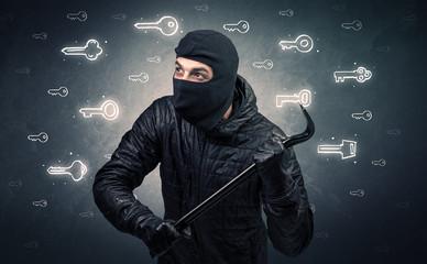 Burglar holding tool.