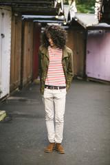 Hip casual girl in Camden Town - London