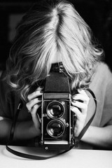 Using a vintage analog camera