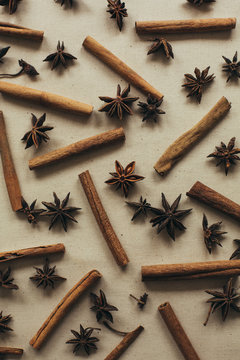 Anise and Cinnamon Sticks