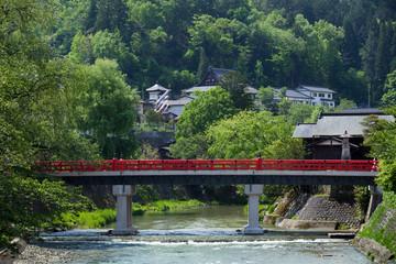 飛騨高山 中橋 新緑